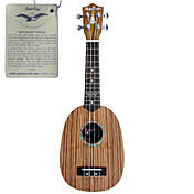Hanknn - Zebrano Pineapple Soprano Ukulele with Gig Bag