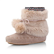 Simple Suede Flat Heel Boots With Fur Party/Evening Shoes