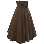 Tea-length Bruin Cotton Casual Lolita rok