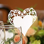Classic Heart Shaped Place Card (Set of 12)