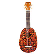 (Pineapple) Pia Basswood Ukulele Soprano con / bolso / Cadena de Selecciones