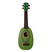 (Kiwi) Basswood Fruit-design Ukulele met zak / String / Picks