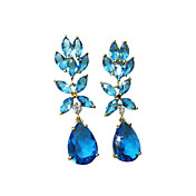 Lovely 18K Gold Plated Cubic Zirconia Chandelier Earrings