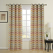 (Two Panels) Modern Spots Jacquard Energy Saving Curtains