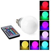 E27 10W RGB Light Remote Controlled LED Ball Bulb (85-265V)