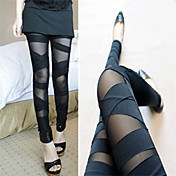 Half Sheer Bandage Slim Legging