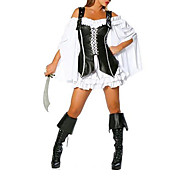 Womens Black Pirate Kits Sexy Cosplay Mchtest Halloween-Kostme