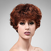 Capless Short High Quality Synthetic Auburn Curly Hair Wig