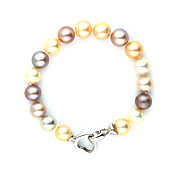 Gorgeous Multi Color Pearl With Alloy Clasp Women's Bracelet