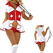 Sexy Womens Nurse White Halloween Costumes (3 Pieces)