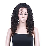 Mono Top With Stretch Lace At Back Indian Remy Hair 22 Inch Regular Curly Fully Hand-tied Wigs