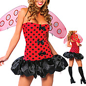 Sexy Adult Lady Bug Red Halloween Costume(3 Pieces)