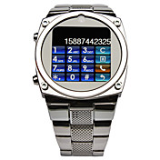 TW818 1,6 pulgadas de Ultra-delgada de Acero Cinturn cmara MP3 reloj telfono mvil de Java