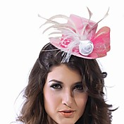 Simple Nylon With Feather/Flower Women's Fascinators