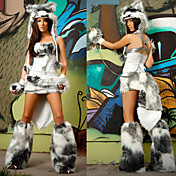Cute Fox Fur Halloween Costume(5 Pieces)
