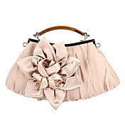 Elegant Polyester with Flower Evening Handbag/Top Handle Bag(More Colors)