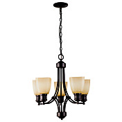 60W E27 Retro Iron Chandelier with 5 Lights