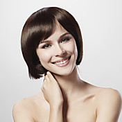 Mono Top 30% Human Hair Brown Bob Hair Wig