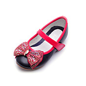 Kids' Leatherette Flat Heel Closed Toe With Rhinestone Bowknot Party/Evening Shoes