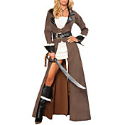 Tough Women Pirate Halloween Costume (3 Pieces)