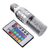 e27 3w 195lm rgb light crystal LED Kerzenlampe (110-240V)