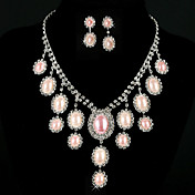 Gorgeous Alloy With Imitation Pearl Women's Jewelry Set Including Necklace, Earrings