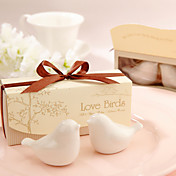 &quot;Love Birds In The Window&quot; Ceramic Salt &amp; Pepper Shakers Wedding Favor (Set of 2)