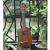 Koa Pili Koko - (mhy-p)  All-solid Mahogany Pineapple Ukulele with Bag/Strap