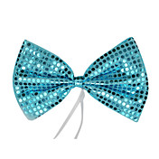 Blue Sequins Bow Halloween Cravat(1 piece)