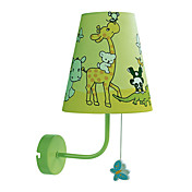 40W Moderne Fabric Børn Wall Light med 1 Lys i Animal Mønster