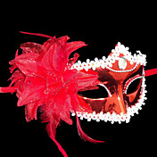 Coquettish Red Princess Flower PVC Party Half-face Mask