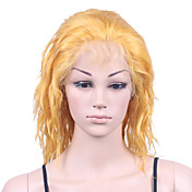 "Nieuwe Lijm-less Cap Met Combs Losse Curly 10 ""Golden 100% Indian Remy Lace Wig"