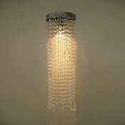 50W MR16 Chrome Finish Wall Light with Crystal Chains