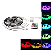 Set striscia LED impermeabile 5m 300x3528 SMD RGB + telecomando a 24 tasti (12V)