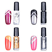 14PCS BK Multi-Color Nail Art Top Coat Decorative Polish(5ml)