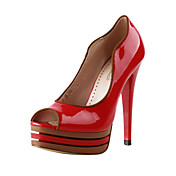 Leatherette Stiletto Heel Peep Toe Party / Evening Shoes (More Colors)