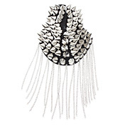 Punk Cusp Rivet Tassels Epaulet Brooch