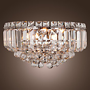 exuberantes luces de cristal de pared con 3 luces (base G9 bombilla)