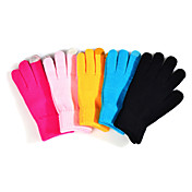 Guantes de Lana de Color Sólido Touch para iPhone 5