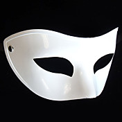 Twinkling  Flattop White PVC Party Half-face Mask