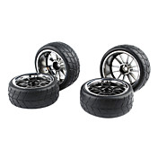 NEW 4PCS Plating  Wheel Rim & Tyre for 1/10 ON ROAD Drifting RC CAR041