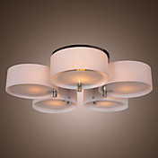 Lmpara Chandelier Acrlica Cromada con 5 Bombillas - EDMOND