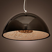 Modern Pendant Light in Black Lampshade
