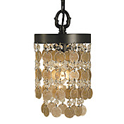 60W Vintage Pendent Light in Shell Shade