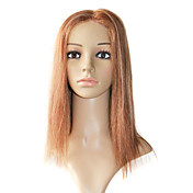Full Lace Hand-tied 16 Inch Silky Straight 100% Indian Remy Hair Wig