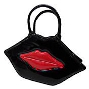 Handmand Black Lip PU Leather Punk Lolita Handbag