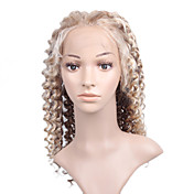 "New Glue-less Cap With Combs Deep Wave 20"" Mixed Blonde Colors 100% Indian Remy Lace Wig"