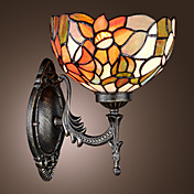 Tiffany Wall Light with 1 Light in Floral Patterned Shade