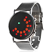 Dress Style Unisex Acero Digital LED Wrist Watch (Silver)