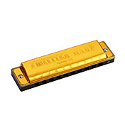 Huang - (105) Blues Harp Golden Harmonica 10 Holes/20 Tones